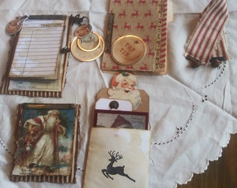 "Christmas Journal Inserts-""HOJO"" Set 2, Junk Journal Inserts, Christmas Junk Journal Inserts, Christmas Embellishments for Junk Journals"