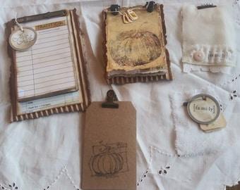 "Thanksgiving  Journal Inserts-""HOJO"" Set 2, Vintage Inserts, Thanksgiving Inserts, Thanksgiving Embellishments Junk Journals, Rust, Shabby"