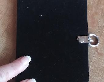 "The Modern ""Little Black Book""- The perfect accessory for a Junk Journal, Mini Black Velvet Journal, Mini Black Junk Journal, Junk Journal,"