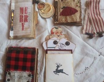 "Christmas Journal Inserts-""HOJO"" Set 1, Junk Journal Inserts, Christmas Junk Journal Inserts, Christmas Embellishments for Junk Journals"
