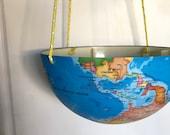 Planter Upside Down Plastic Hanging World Globe Planter