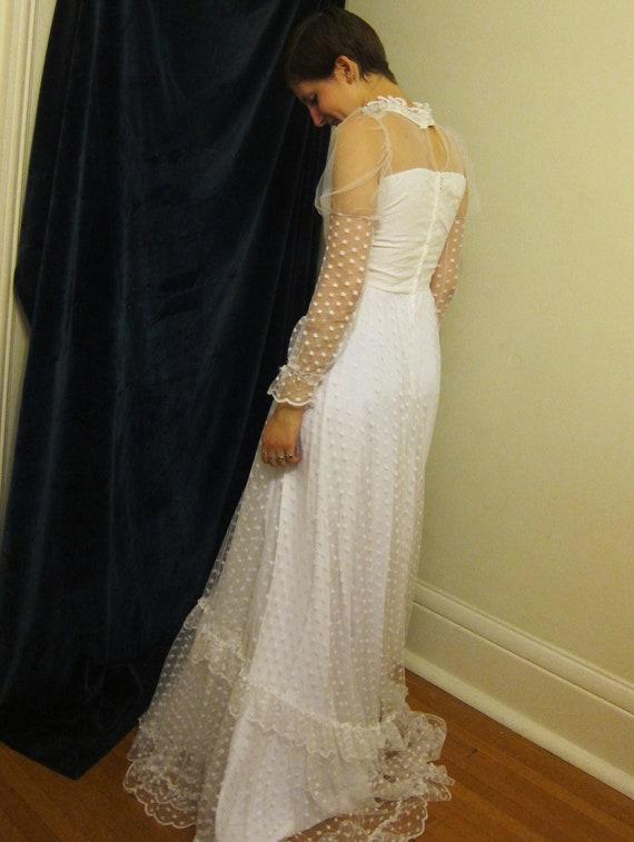 1970s EUROPEAN wedding dress, unique wedding, orig
