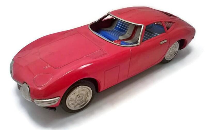 Vintage Ichiko Ashai Atc Tin Toy Toyota 2000gt Friction Etsy