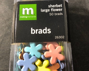 Brads Spare Parts Scrapbooking Large Round Brads White Bulk 50 ...