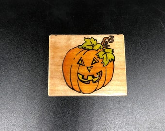 Jolly Jack  1205E Penny Black Halloween Rubber Stamp Used View All Photos