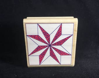 Divided Quilt Star Rubber Stamp Rubber Stampede Used
