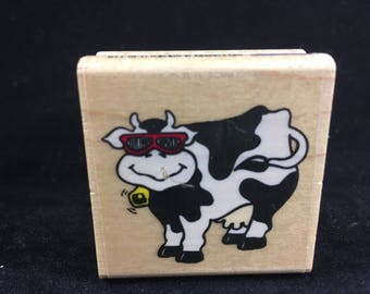 Cow Rubber Stampede Rubber Stamp