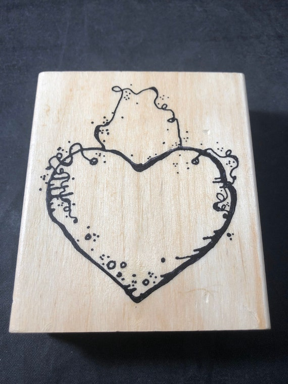 Hanging Heart Rubber Stamp Used View all photos