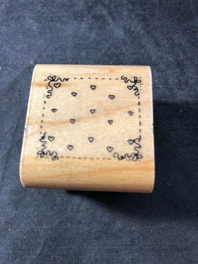 Tiny Hearts Background Used Rubber Stamp View all Photos DOTS