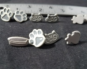 Cute Cats 12 count Brads 3 of each design
