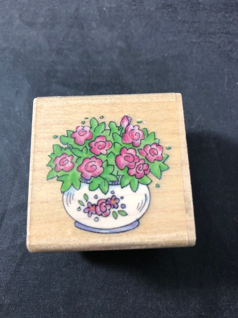 Tea Bouquet Used Rubber Stamp View All Photos