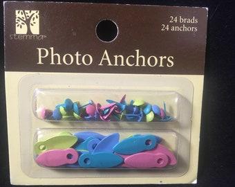 Photo Anchors 24 Brads 24 Anchors