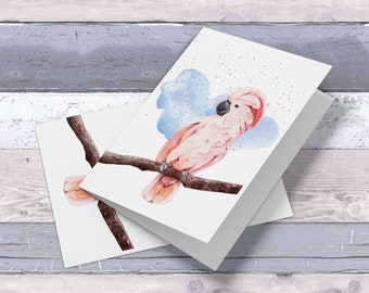 Set of  8, 10 OR 20 Cockatoo cards, personalization on the front ( family friendly) , inside is blank for your own writing