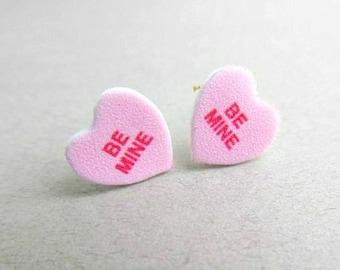 Candy Heart Earrings Etsy