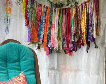 Recycled Sari Hippie Boho Gypsy Garland