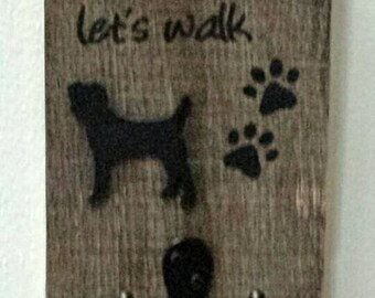 Personalized Pallet Wood Dog Leash Hook