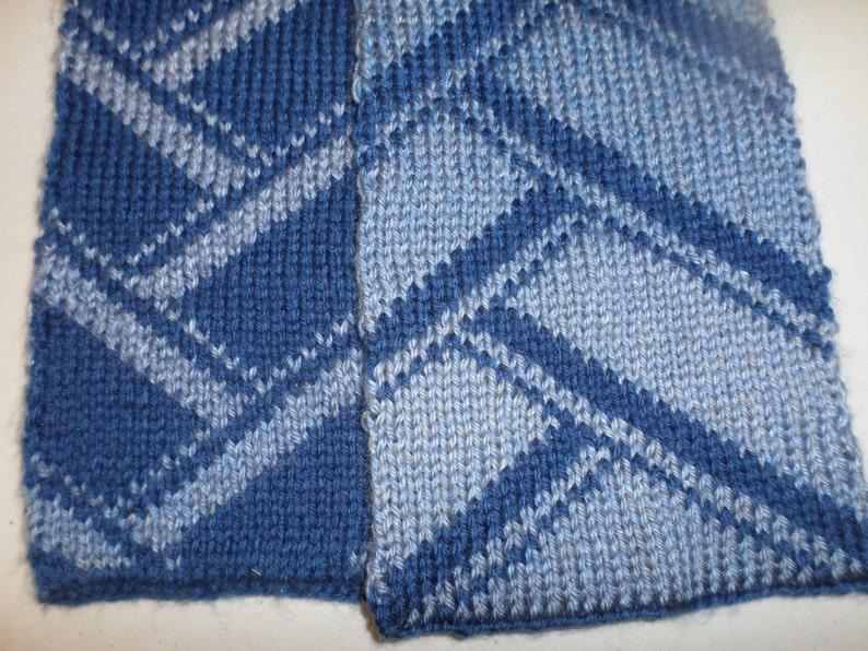 Striped Double Knit Scarf Pattern | Etsy