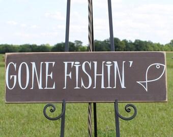 Wooden Lake Wall Hanging/Lake Themed Sign/Lake/Lake Gift/Lake Wall Decor/Cabin Decor/Gone Fishin' Sign/Lake Cabin Sign/Rustic Home Decor