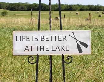 Wooden Lake Wall Hanging/Lake Themed Sign/Lake Gift/Lake Wall Decor/Cabin Decor/Life is Better at the Lake/wall hanging/Rustic Home Decor