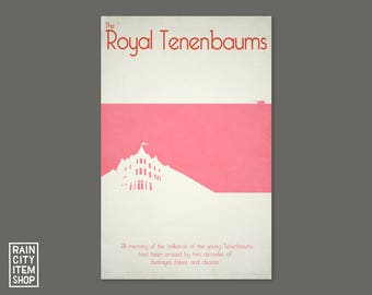 The Royal Tenenbaums Minimalist Movie Poster - Wes Anderson