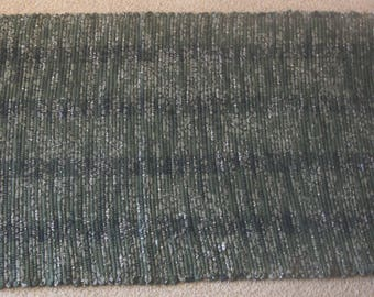 Handwoven Rag Rug - Oive Greens and Black with a few white speckles - 45 inches....(#179)