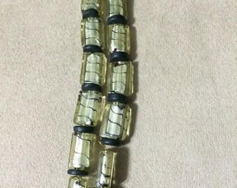 Gold and Black double strand bracelet