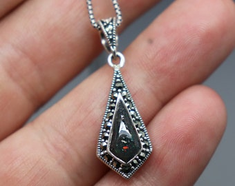 Cremation Star Pendant Ashes Necklace For Men Cremation Jewelry Pet Memorial Jewelry Diamond Cremation Jewelry Necklace Silver Bereave