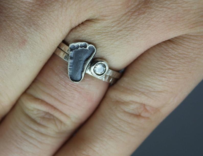 Baby Footprint Ring Baby