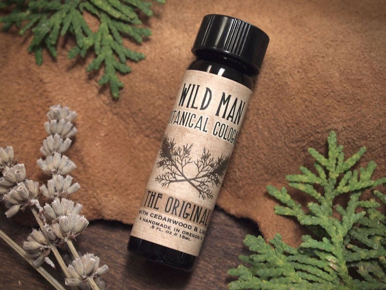 Natural Cologne Oil WILD MAN Unisex Essential Oil Perfume with image 0