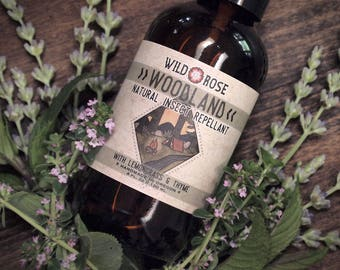 Organic Bug Spray - WOODLAND - Natural Insect Repellent Essential Oils - 4oz//120ml