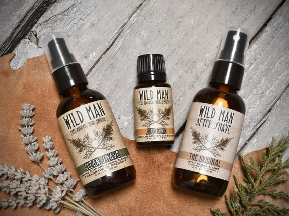 d5222723e8c3 Mens SHAVING Gift Set Wild Man After Shave Shaving Soap and