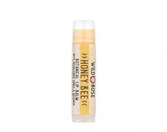HONEY BEE Natural Lip Balm with Wildflower Honey and Violet - .15 oz stocking stuffer