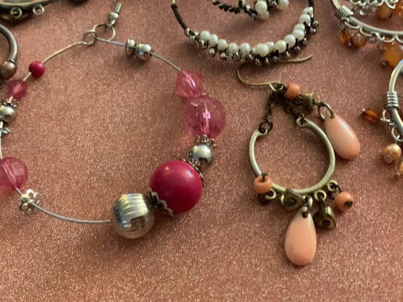 Retro  Earrings Earring Supplies Vintage  Metal Earrings 1980s  Earrings Single  Earrings