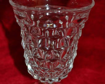 Fostoria American Water, 9 oz. Low Ft. Goblet- Two (2) Goblets