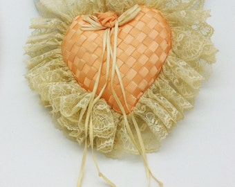 Handmade Lacy Potpourri Heart Ready for your Favorite Fragrance