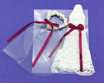Bridal Gown and Veil Scrapbook Embellishment