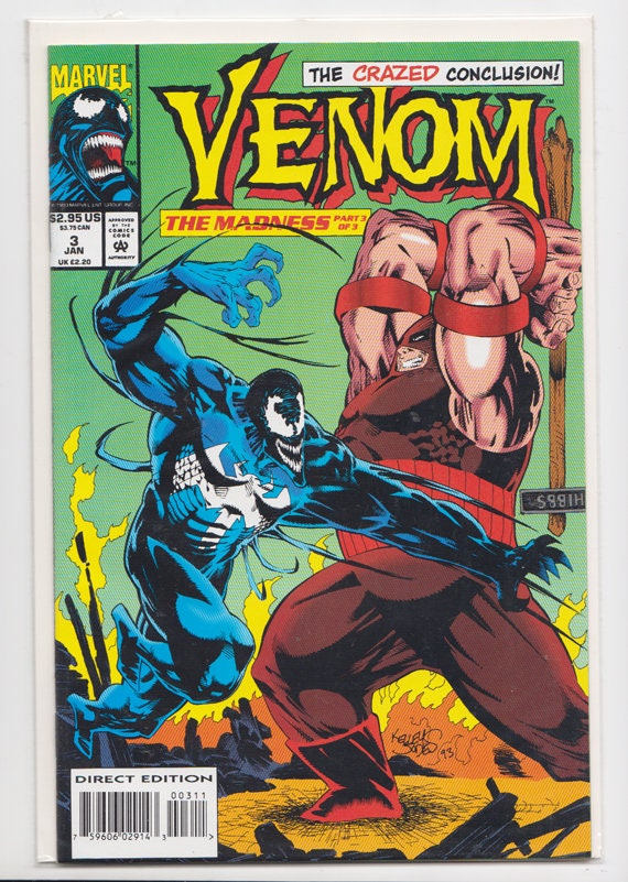Venom Comic Book The Madness Part 3 of 3 1993