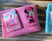 Minnie Mouse Full Body Nap Set, Large Fleece Blanket, Pillowcase and Pillow or Pillowcase Only, Personalized