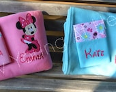 Minnie Mouse Full Body Nap Set, Small Fleece Blanket, Pillowcase and Pillow or Pillowcase Only, Personalized