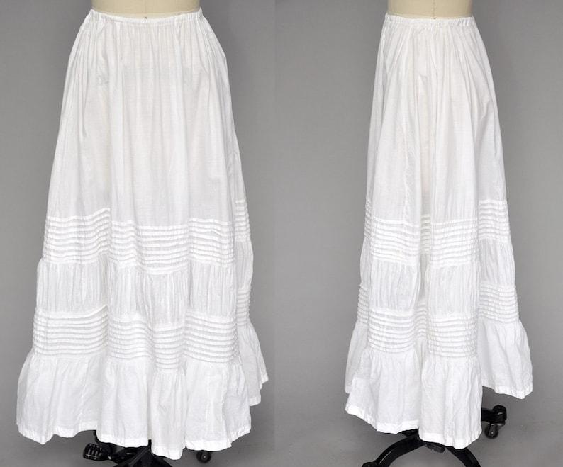 edwardian skirt  antique edwardian underskirt  vintage image 0