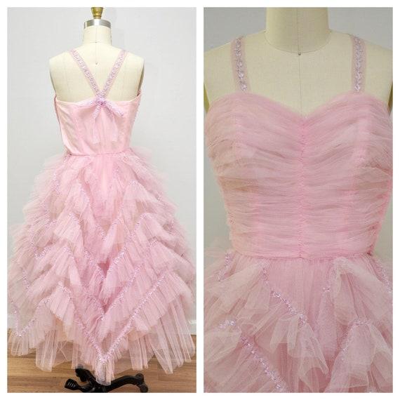 1950s Will Steinman dress | vintage 50s rose pink
