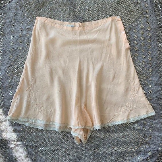 1930s peach silk tap pants panties S/M