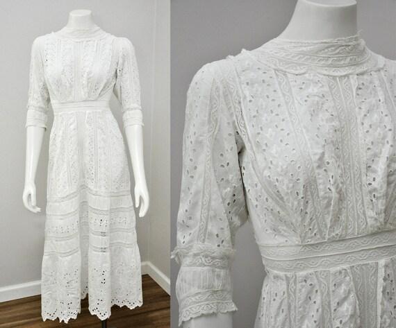 Edwardian lingerie dress | antique eyelet white co