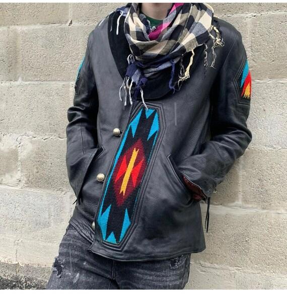 vintage chimayo style leather jacket - image 1