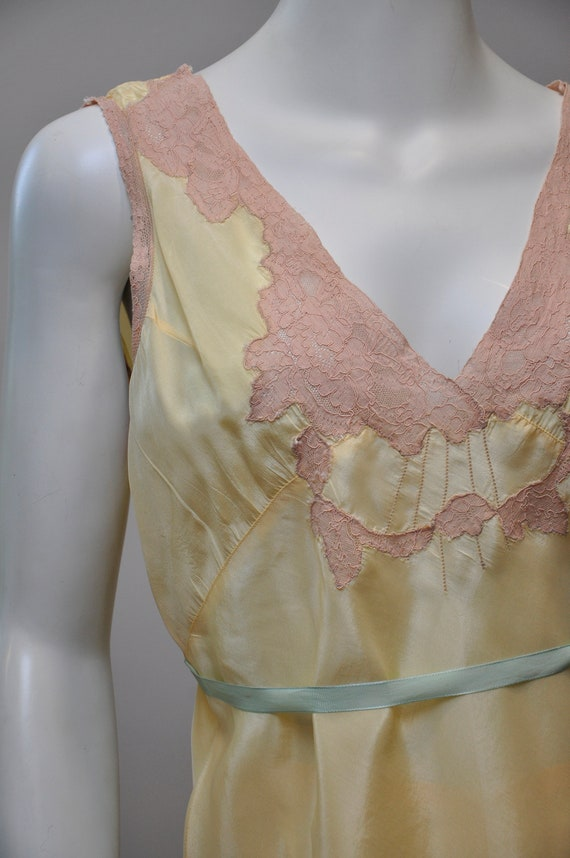 1930s silk and lace loungwear set | vintage 30s y… - image 4