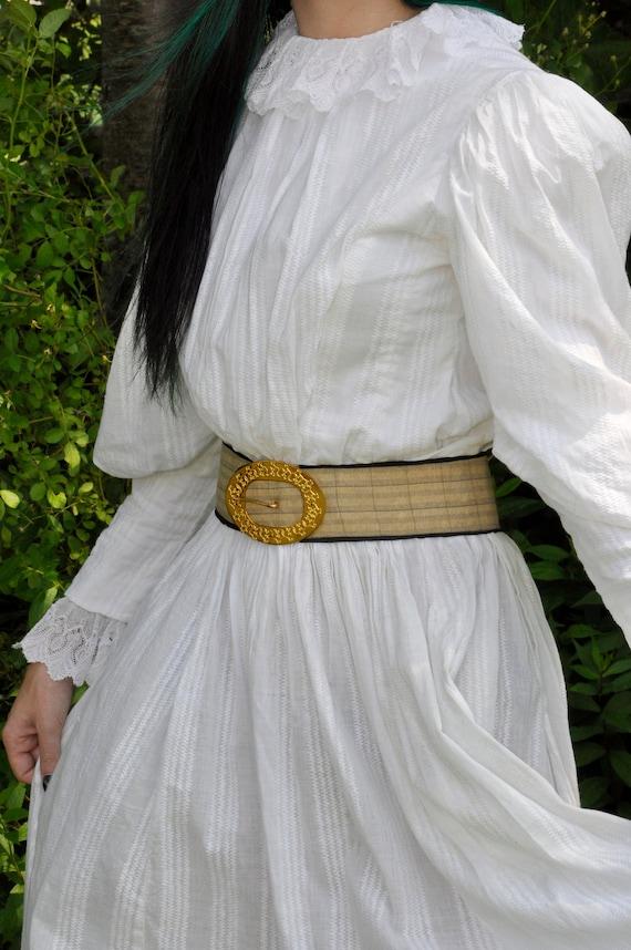 antique Victorian skirt wedding set | huge leg o m