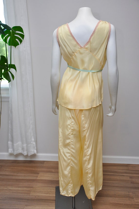 1930s silk and lace loungwear set | vintage 30s y… - image 6