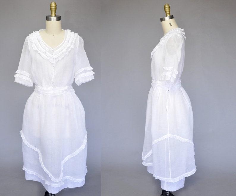 edwardian dress  1900s silk organza dress  vintage tea image 0