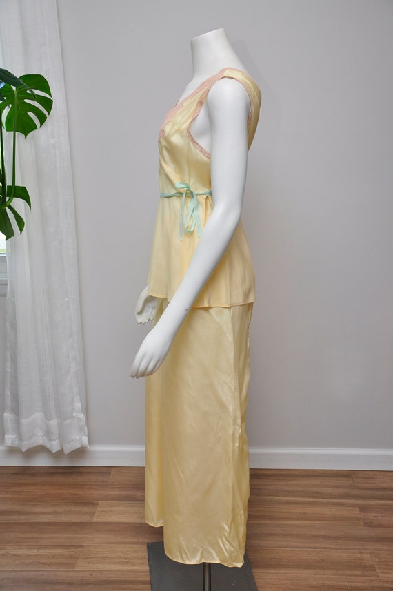 1930s silk and lace loungwear set | vintage 30s y… - image 5