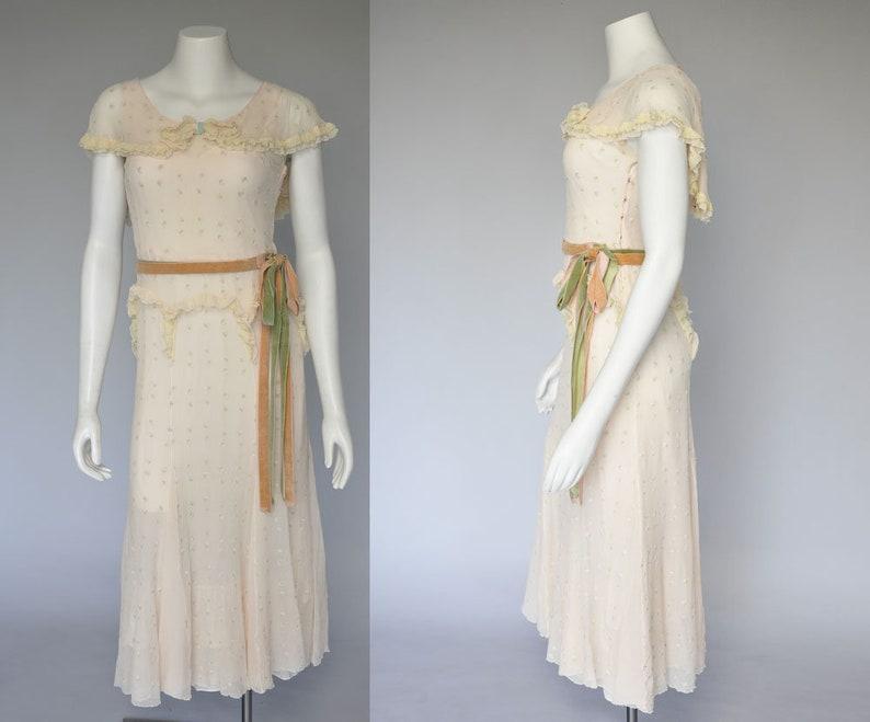 1930s dress  vintage 30s dress  30s floral dress  1930s image 0
